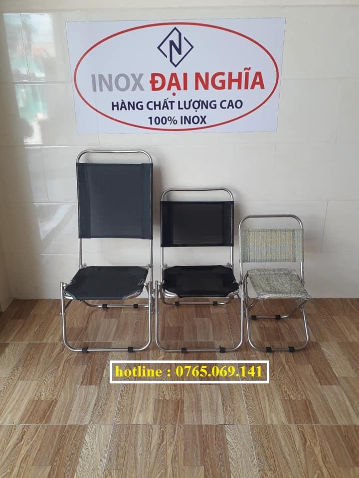 Ghế xếp inox mini